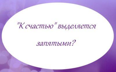 «К счастью» выделяется запятыми?